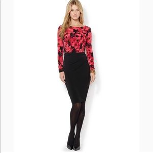 Ralph Lauren long sleeve floral midi dress