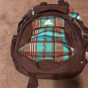 Adidas plaid backpack