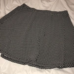 black and white polka dot skirt from top shop