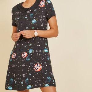 Modcloth planetarium parade babydoll dress