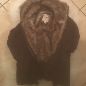 Faux Fur Lined Abercrombie Sweater