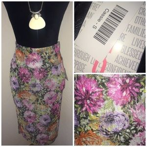 NEW LuLaRoe CASSIE Floral Stretchy Pencil Skirt