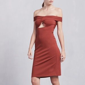 Reformation Ferris Off The Shoulder Midi Dress
