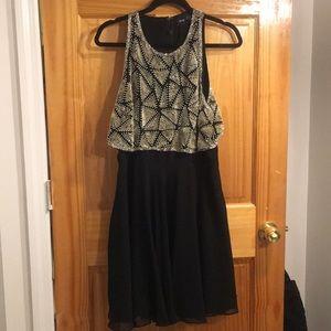 ASOS All Over Embellished Crop Top Skater Dress
