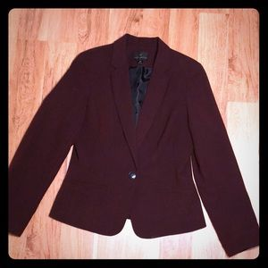 Size M burgundy blazer worthington