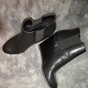 Booties black merona