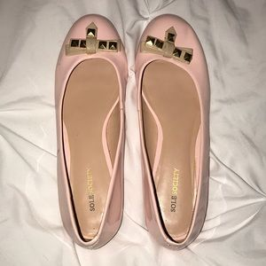 blush pink sole society flats