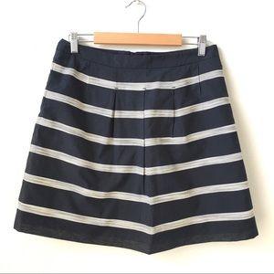 Navy striped skirt   LOFT