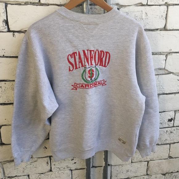 e2e6c2205 Vintage Sweaters | Logo 7 Stanford Cardinal Embroidered Crew | Poshmark