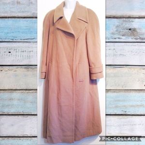 VINTAGE Lambert Wool & Cashmere Neutral Long Coat