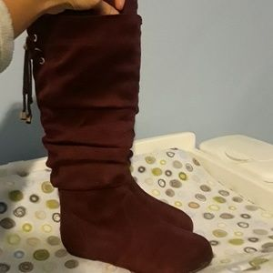 Other - Lucky Top Girls Cranberry Knee High Boots in Box
