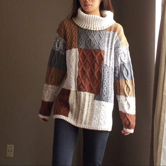 74% off Vintage Sweaters - Vintage colorblock heavy knit ...