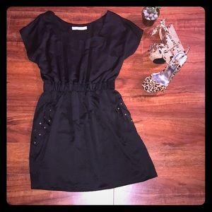 MinkPink Black Mini Dress with POCKETS Medium
