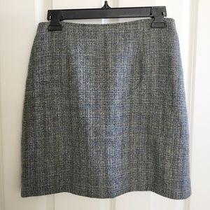 Ann Taylor Wool Skirt Blue Gray Size 6