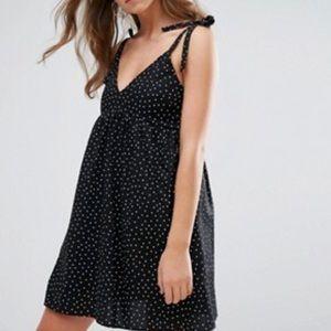 Asos nobody's child polka dot dress xs