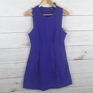 Madewell fit and flare blue dress Sz 14