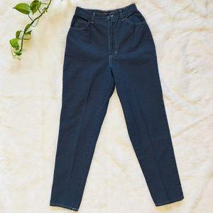 Vintage High Waisted Mom Jeans Polka Dot Denim