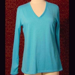 NIKE DRY FIT turquoise polyester blouse M