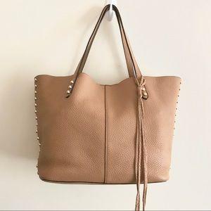 Rebecca❤️MINKOFF❤️Pebbled Leather Tote Tan Purse