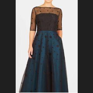 New EshaktI Polka Dot Fit & Flare Dress L 12