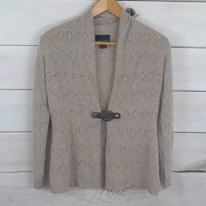 Cynthia Rowley cashmere light brown cardigan. Sz S