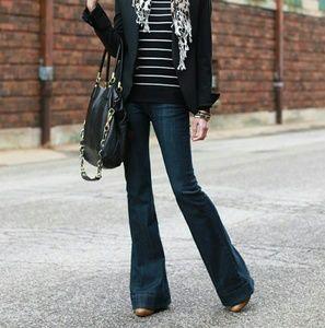 { Earnest Sewn } Lau Dark Indigo bell flares jeans