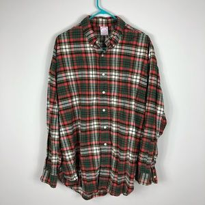 Brooks Brothers Red Plaid Flannel Button Up XL