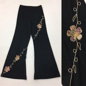 Pants - Bell bottom hippie chic high waist pants