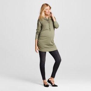 Liz Lange Maternity Tunic Cowl Sweatshirt Sz Large