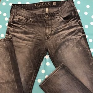 Guess Los Angeles  Lincoln dark gray jeans 30w