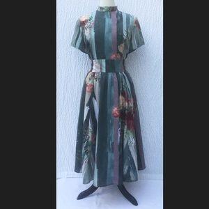 New Eshakti Floral Fit & Flare Midi Dress L 14