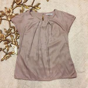 Boden Lavender Cap Sleeve Silk Top Size 4