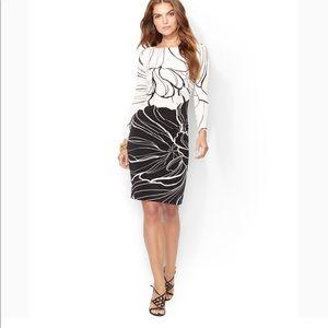 Ralph Lauren long sleeve flowery print midi dress
