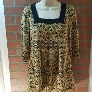 Nine West Size 4 Long Flare Bottom Top 3/4 sleeve
