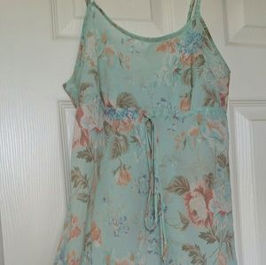 Victoria's Secret Floral Semi-Sheer Nightie