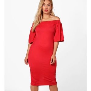Gorgeous red holiday party dress