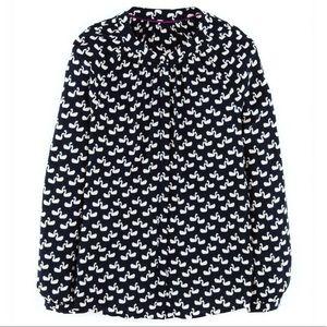 Boden Swans buttons Down Shirt Blouse Top