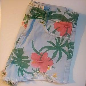 Zara jean flower shorts