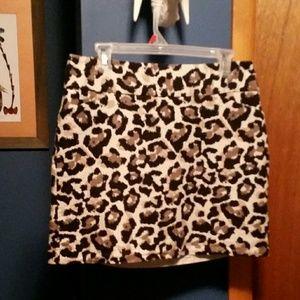 Ann Taylor animal print mini skirt