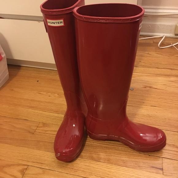 df4d78e9bd9c Hunter Boots Shoes   Hunter Original Tall Gloss Rain Boot   Poshmark