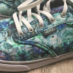 f17136cff9d61a Vans Shoes - Blue and Green floral Vans