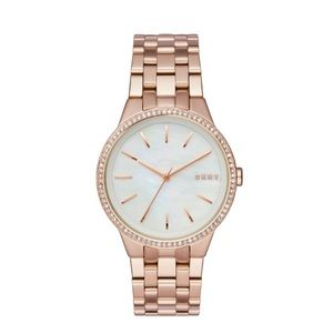 DKNY Park Slope Rose Gold-Tone Three-Hand Watch