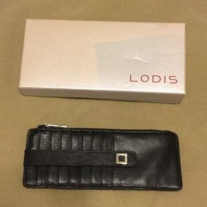LODIS Black Italian Leather  RFID Card Stacker