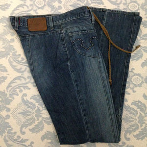 Guess jeans with lace front