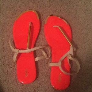 Neon Sandals worn once