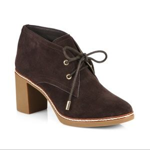 New Tory Burch Hilary Brown Suede Booties