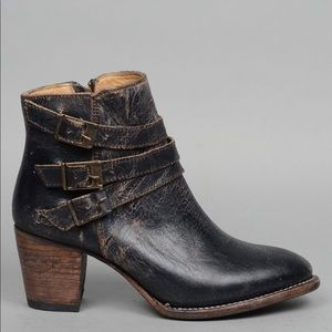 NWOT Bed Stu // Begin Harness Bootie Black Leather