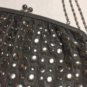 Handbags - UE Certified vegan studded clutch!!