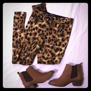 Cheetah jeggings