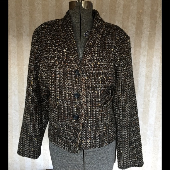 Requirements Jackets & Blazers - Requirements tweed blazer.